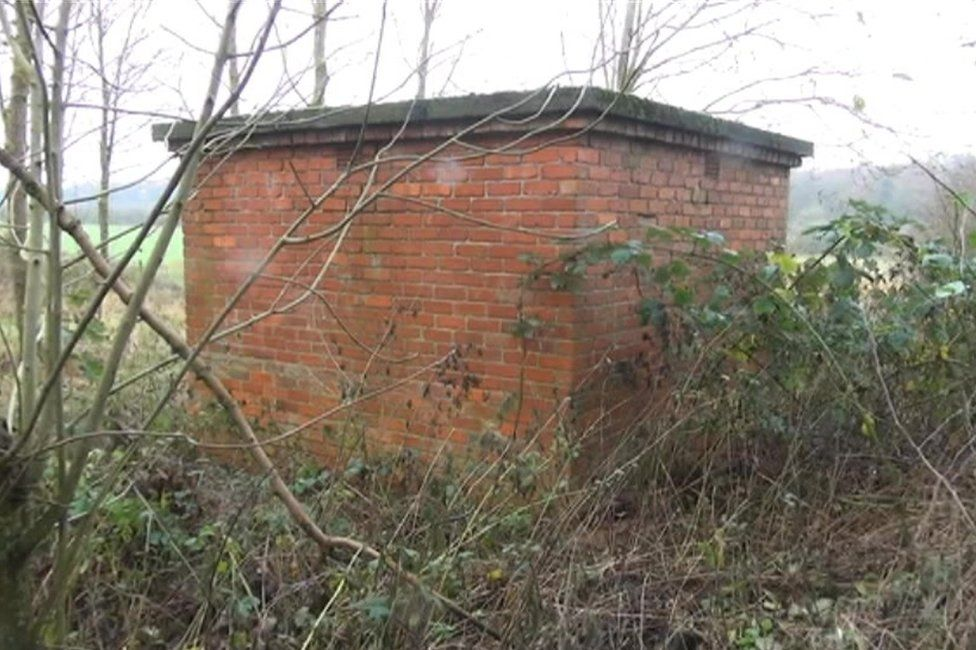 Brick outbuilding on the Buckminster Estate where the fox was being kept