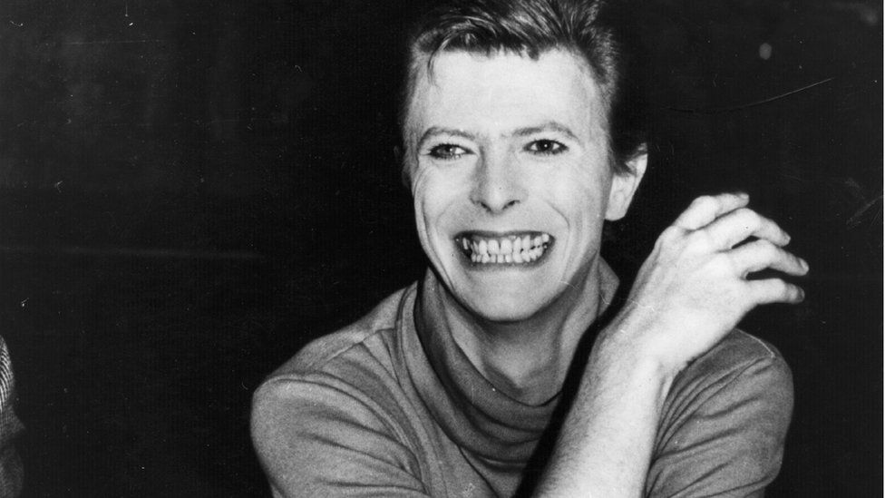 Rock singer David Bowie takes a break from his current project; playing the title role in a Broadway play based on the life of John Merrick, the hideously deformed ' Elephant Man' (October 1980)