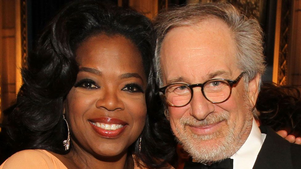 Oprah Winfrey with Steven Spielberg