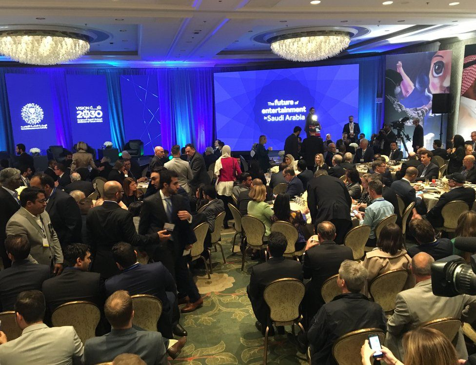 Hundreds attended the meeting on the future of Saudi entertainment