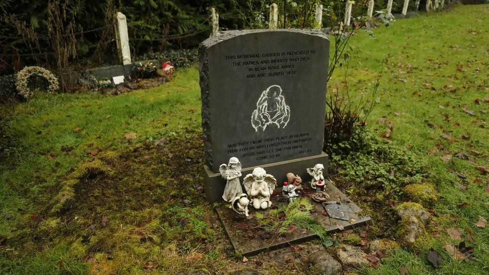 The infants' graveyard at Sean Ross Abbey in Tipperary, which was a mother and baby home from 1930 to 1970.
