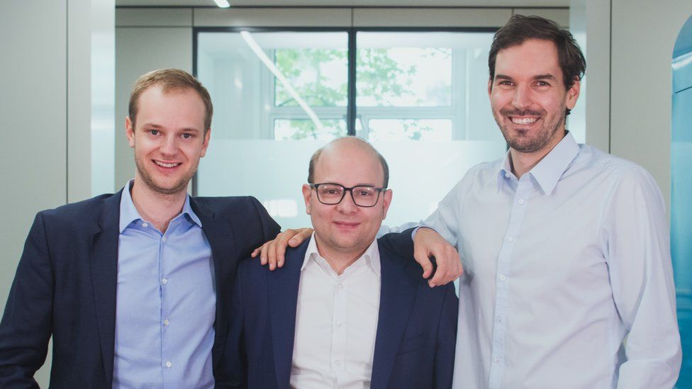 Celonis' three founders, from left to right, Alexander Rinke, Bastian Nominacher and Martin Klenk