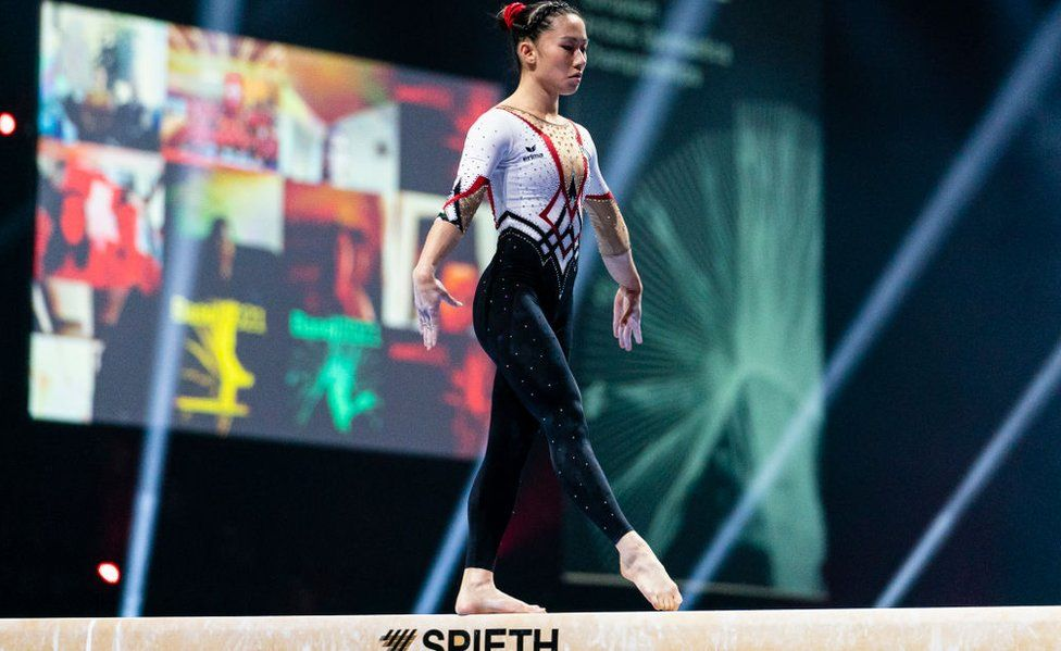 German gymnasts' outfits take on sexualisation in sport thumbnail