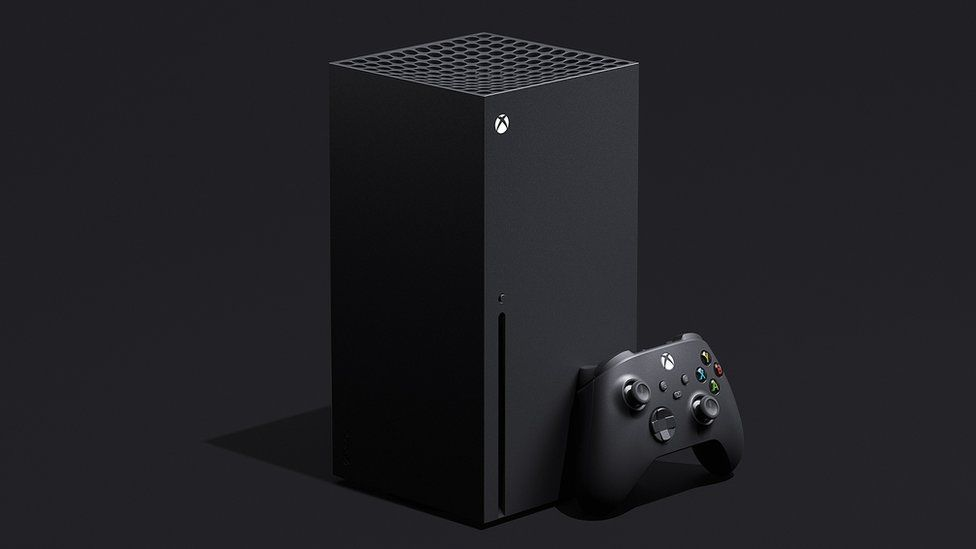 An Xbox Series X console is seen here