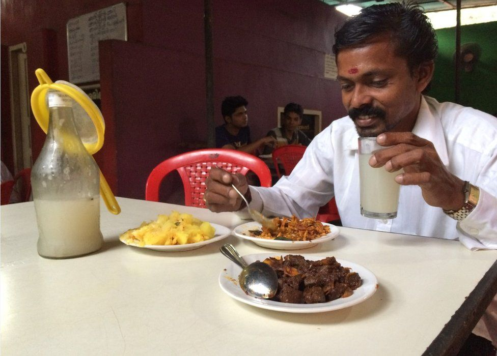 Beef fry and toddy