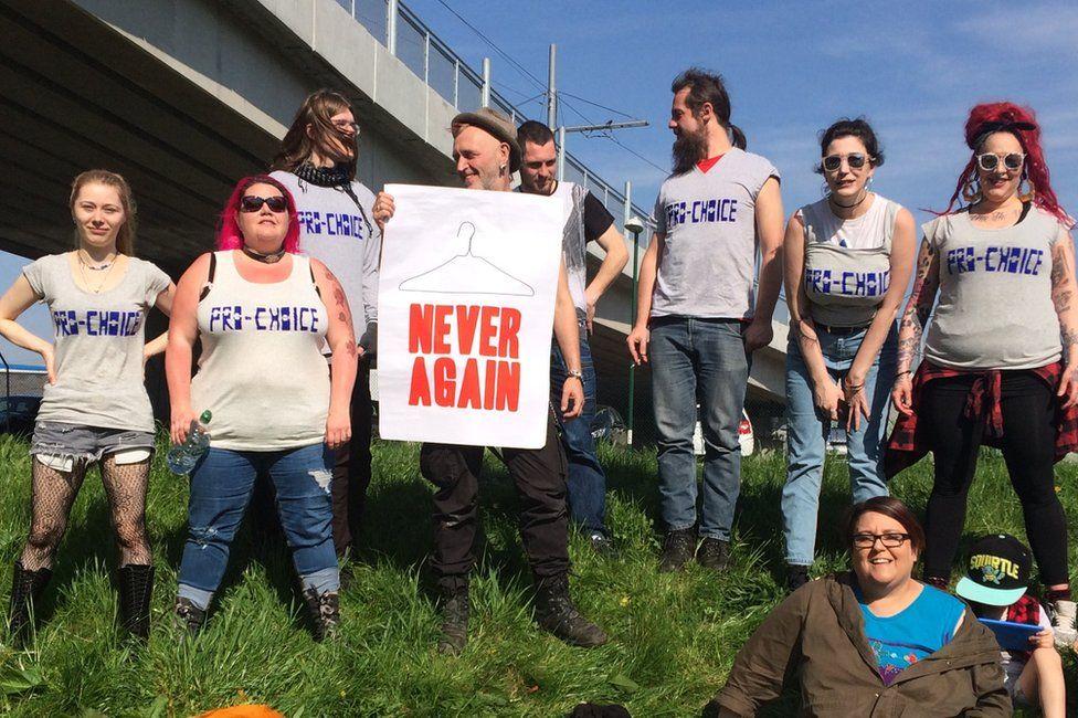 Pro-Choice Nottingham activists in April 2017