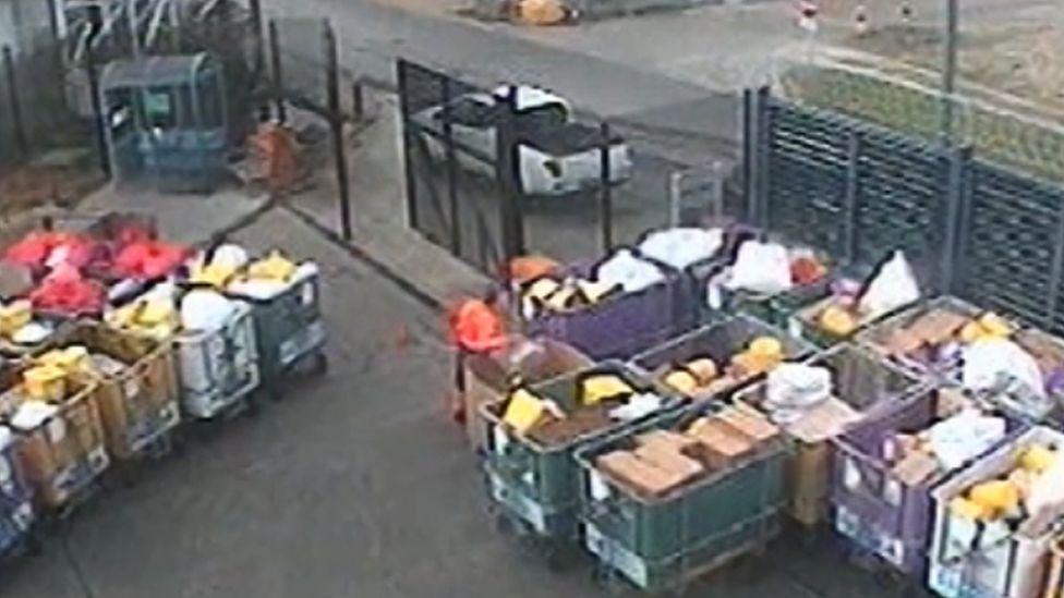 Still from CCTV of a man stealing tobacco from Augean, Sandwich, Kent