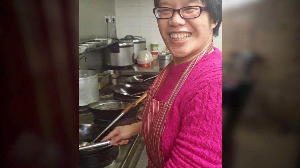 Lisa Chee in her kitchen