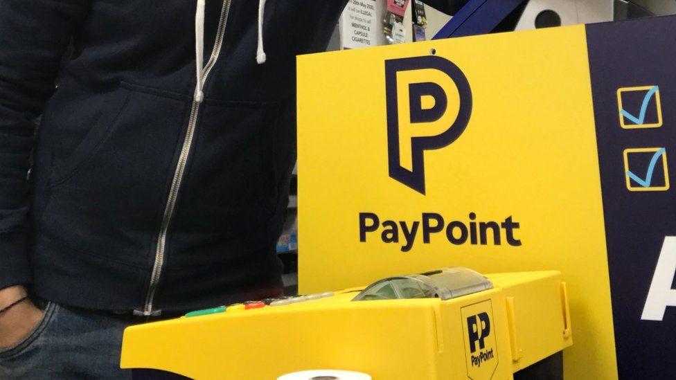 PayPoint machine in Imran Hamid's shop