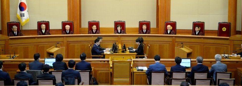 Supreme Court in South Korea (10 March 2017)