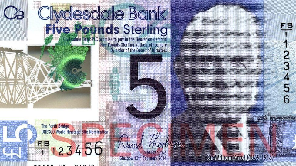 New Clydesdale Bank £5 note