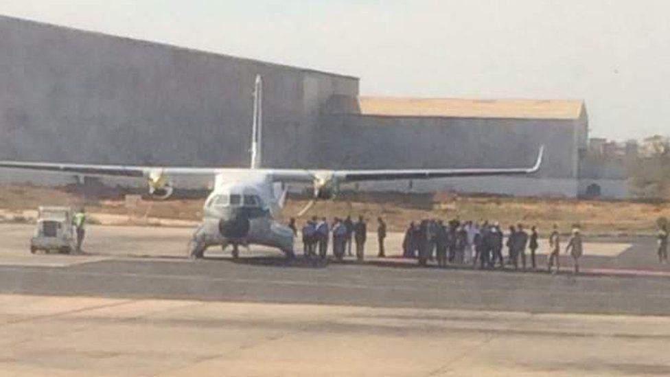 Adama Barrow est arrivé à Banjul