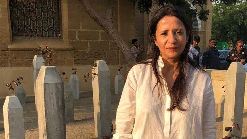 Adeela Suleman at the exhibition