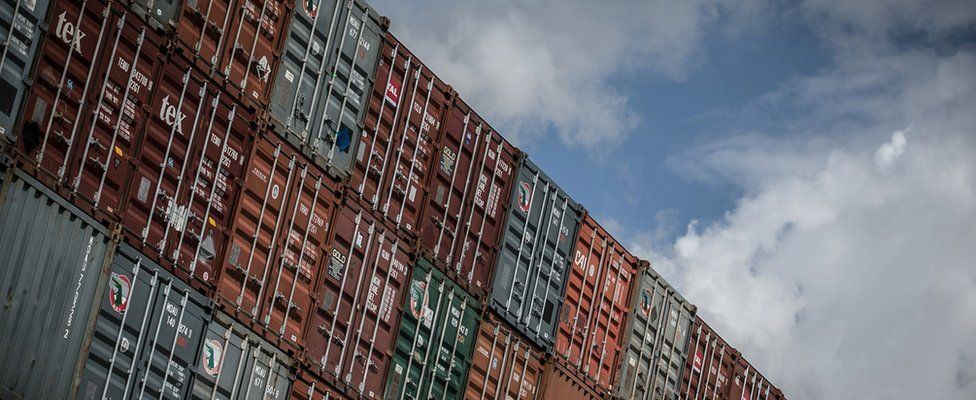 Shipping containers at Southampton, UK