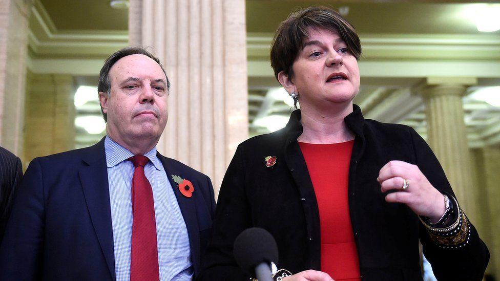 Nigel Dodds and Arlene Foster