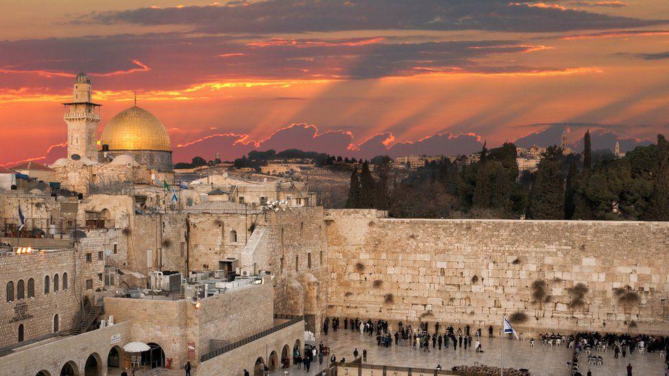 Jerusalem skyline at Temple Mount / Haram al-Sharif
