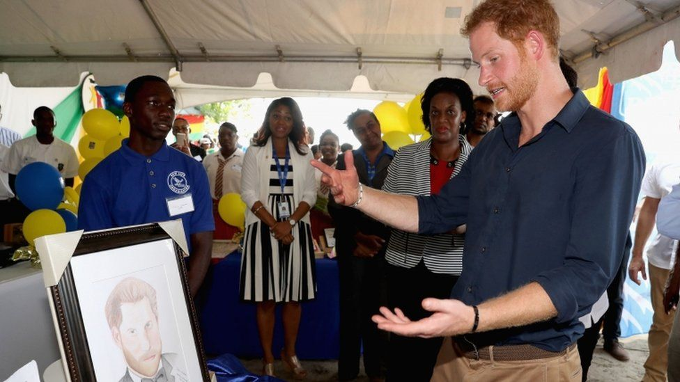 Prince Harry and his portrait