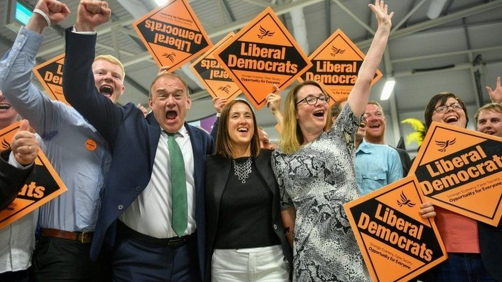 Celebrations by the Lib Dems