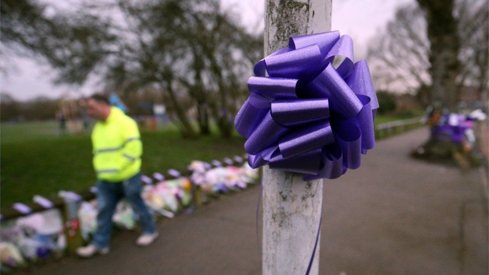 Purple ribbons for Jodie Chesney