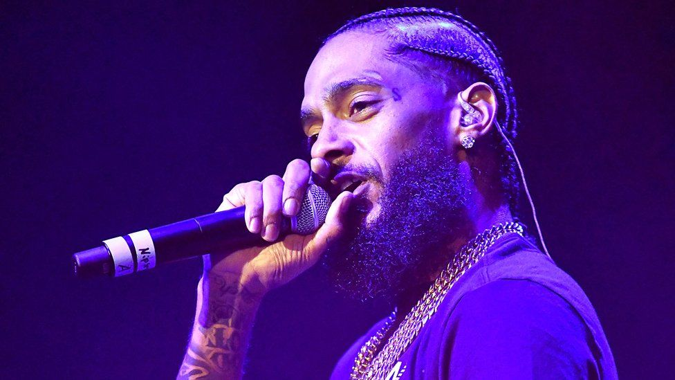 Conspiracy theories spread after Nipsey Hussle shooting - BBC News