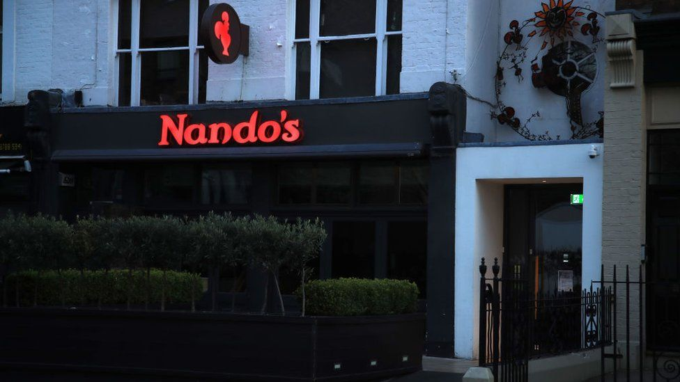 Nando's restaurant closed due to coronavirus crisis