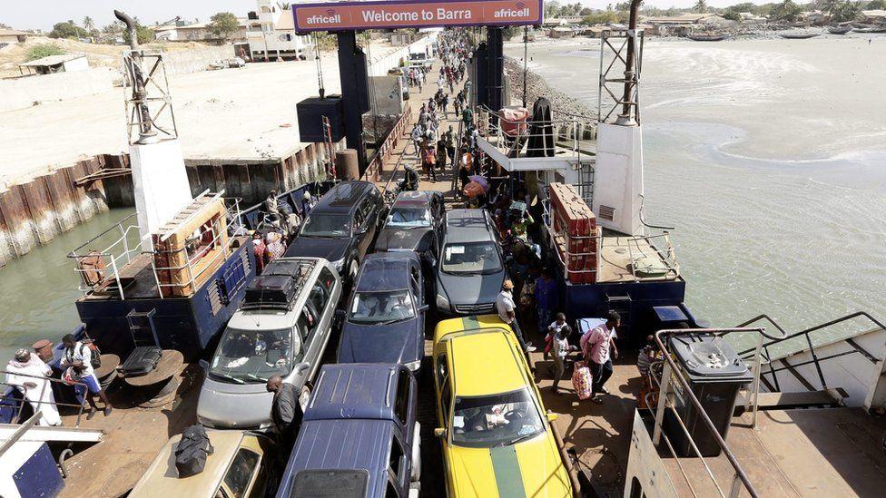 Gambian refugees return to Banjul, Gambia, 21 January