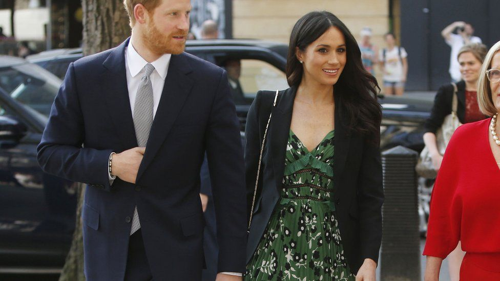 Meghan's £300 green dress from Self Portrait