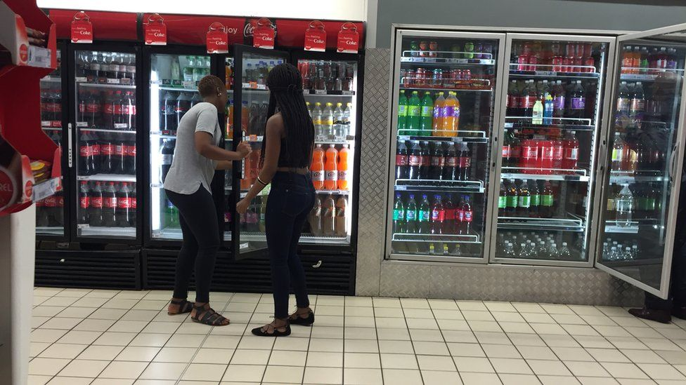 Shoppers in downtown Johannesburg, South Africa