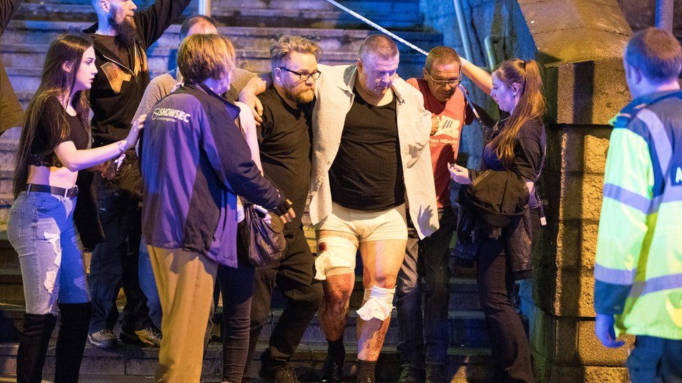 Mark Robinson on the night of the attack
