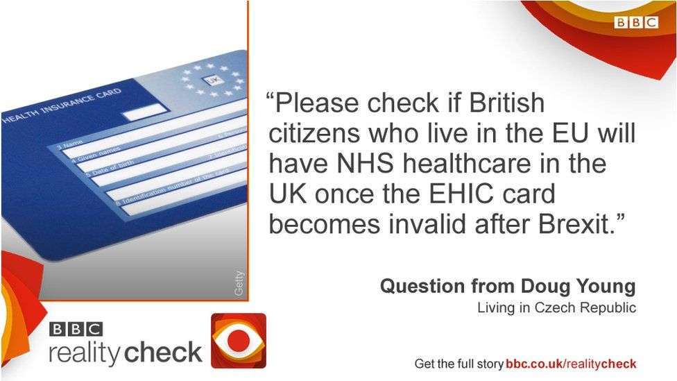 Reader question: Please check if British citizens who live in the EU will have NHS healthcare in the UK once the EHIC card becomes invalid after Brexit