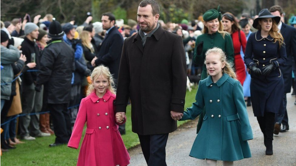 Peter Phillips with his daughters Isla and Savannah
