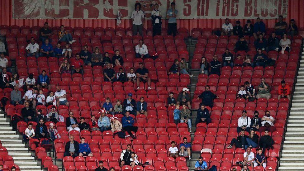 Fans at England v Romania