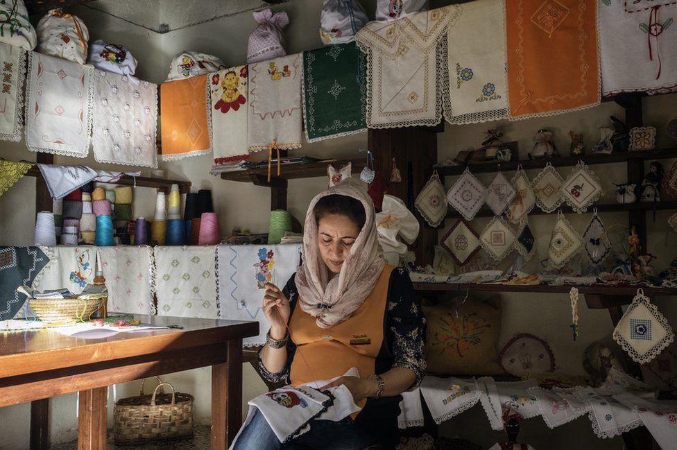 Tahira, an apprentice embroiderer