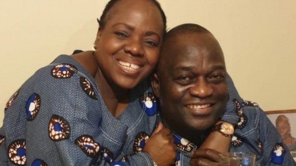 Belly Mujinga and husband