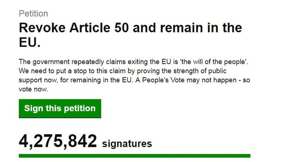 Grab from petition website
