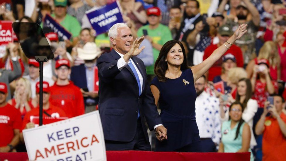 Mike Pence and his wife