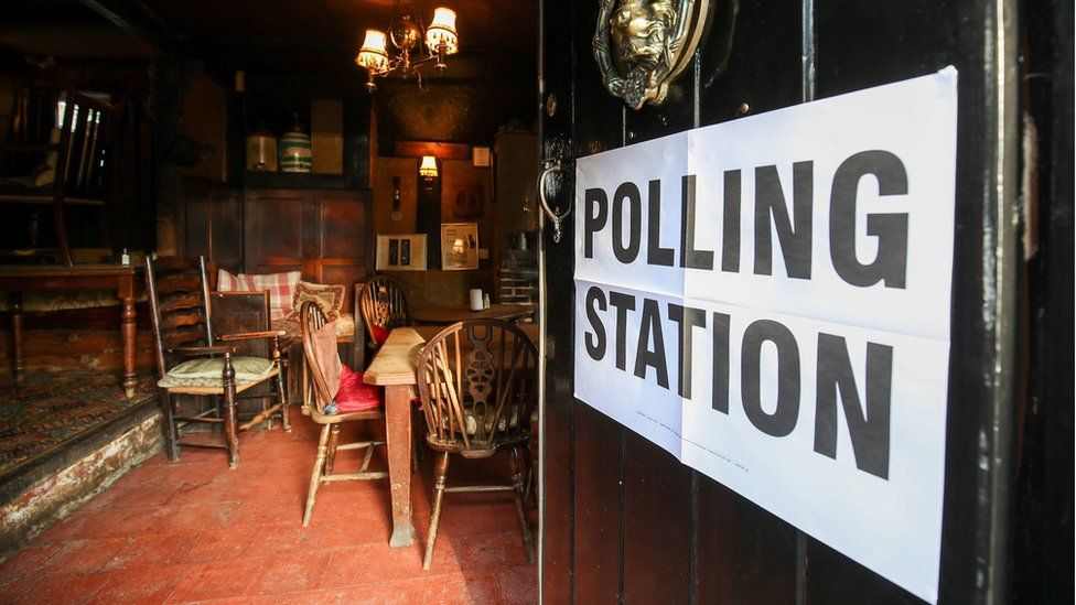 Polling station in a pub
