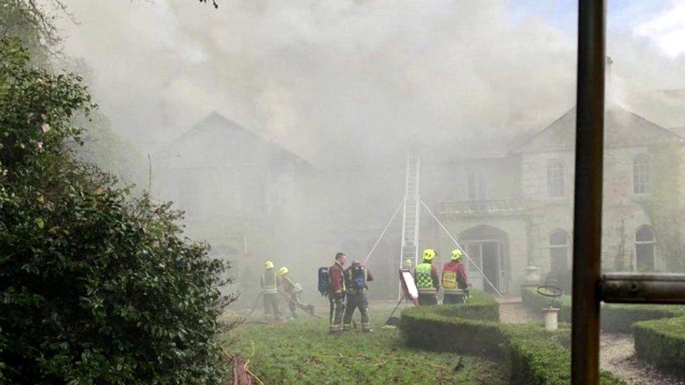 Milltown manor house fire