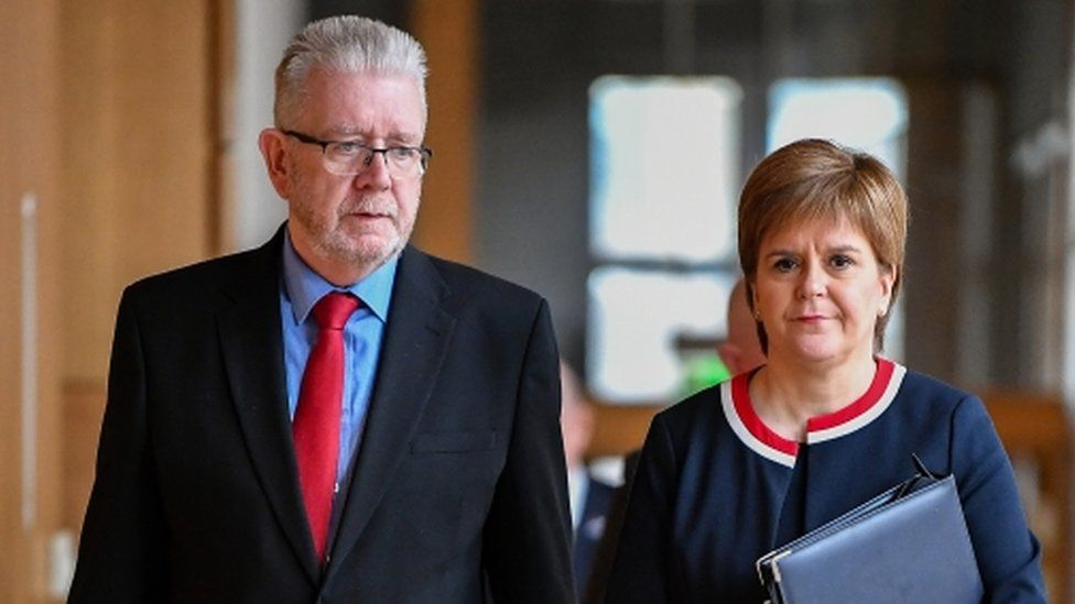Mike Russell and Nicola Sturgeon