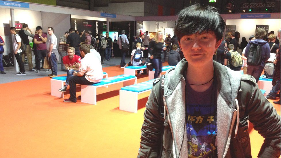 18 year old Ty at EGX gaming event