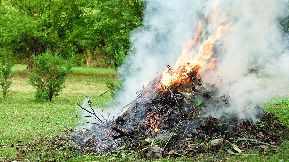 Garden waste burning