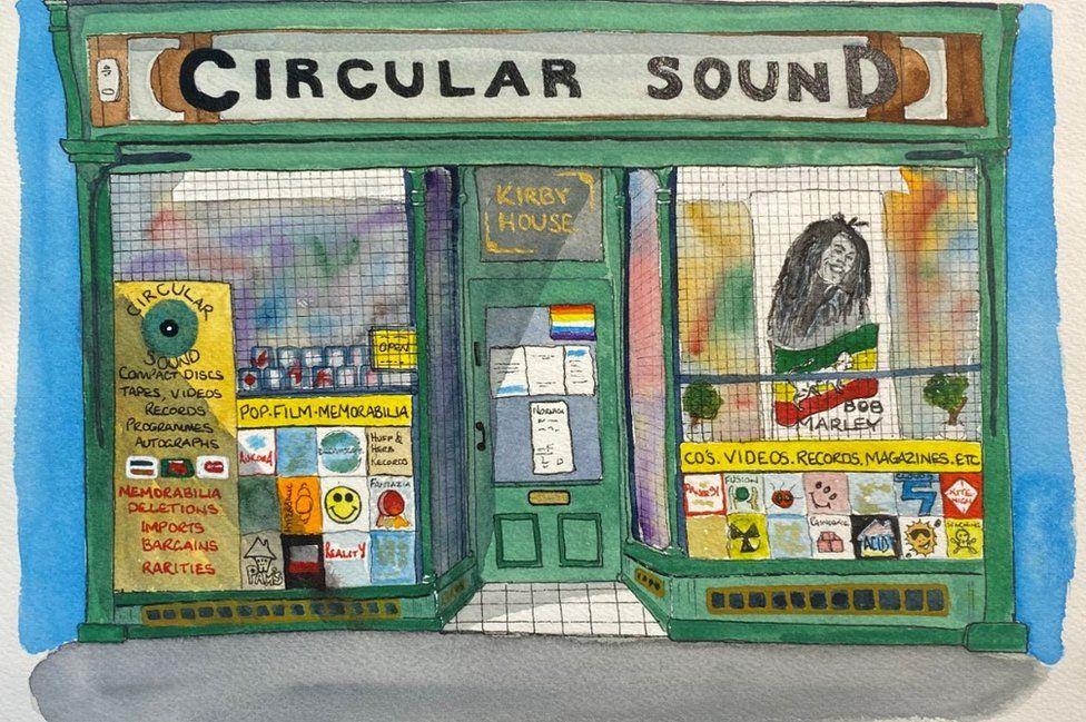 Circular Sound record shop by Nick Chinnery