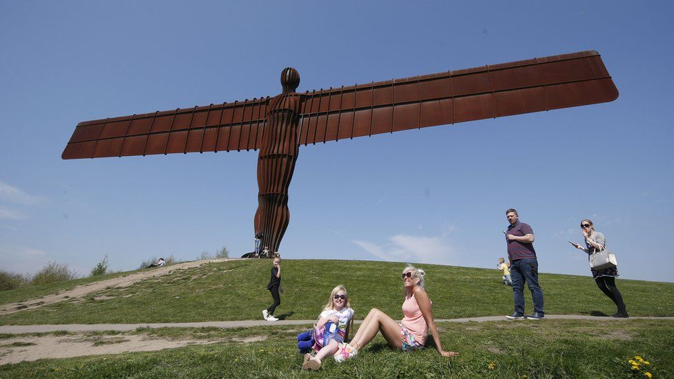 """Antony Gormley""""s 1998 sculpture the Angel of the North"""