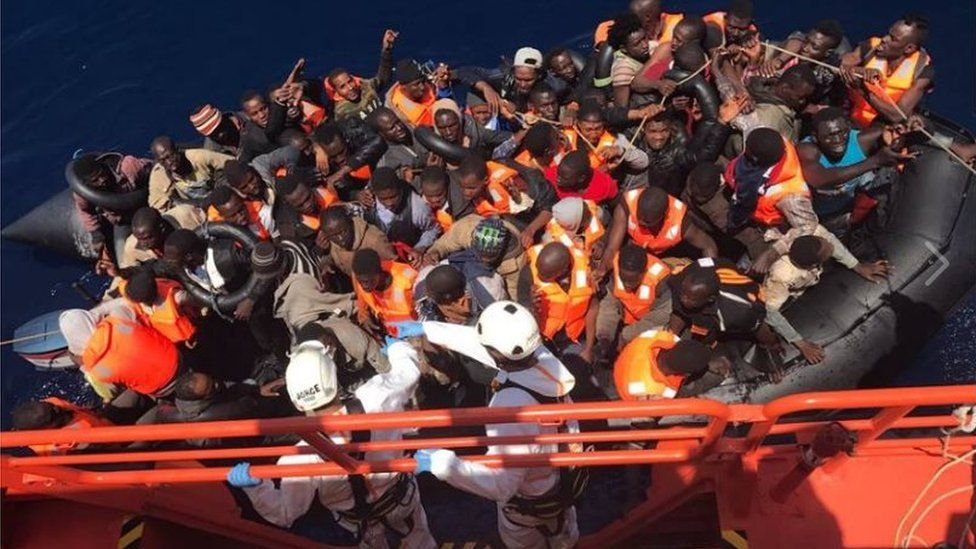 A sea rescue in June of migrants by Spain's maritime rescue