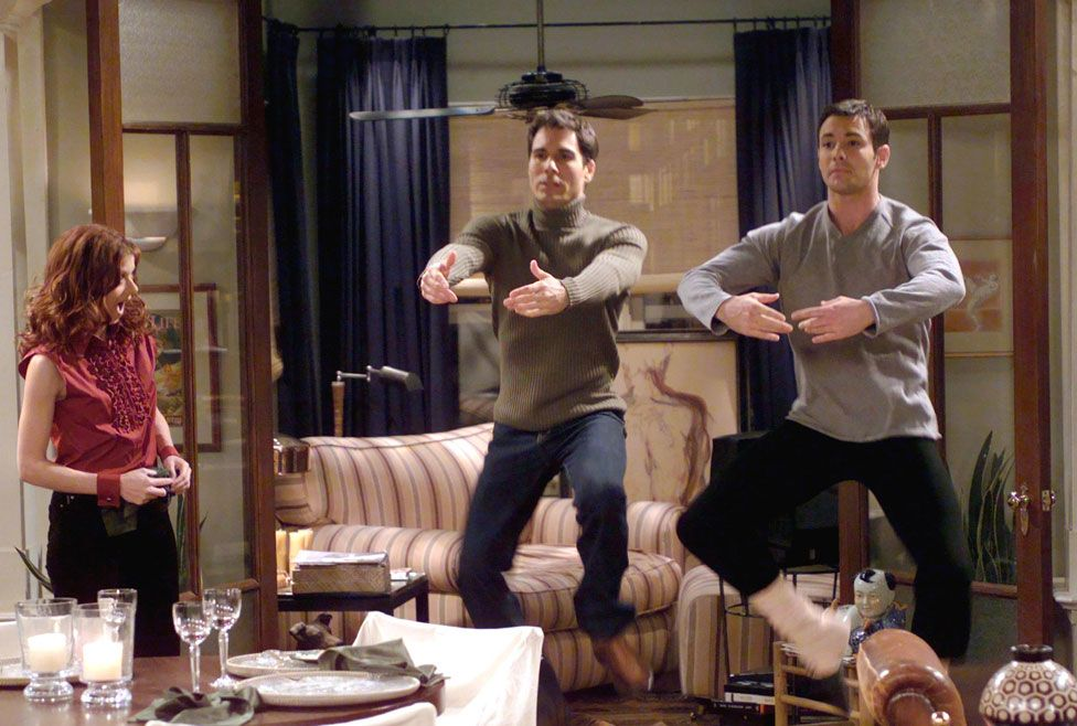 Scene from the TV show Will and Grace