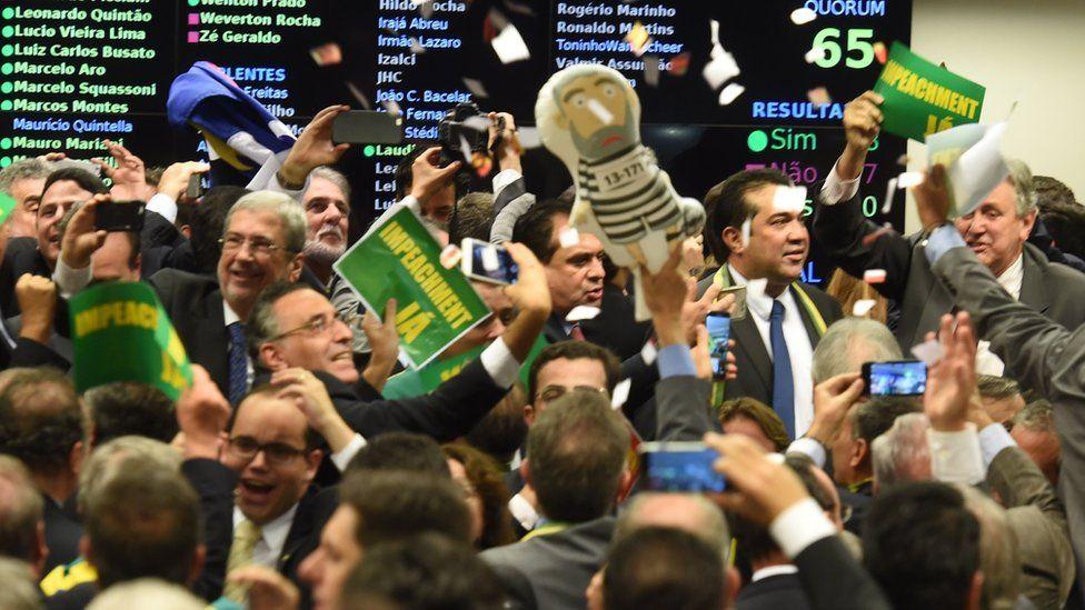 Congressional committee votes in Brasilia. 11 April 2016