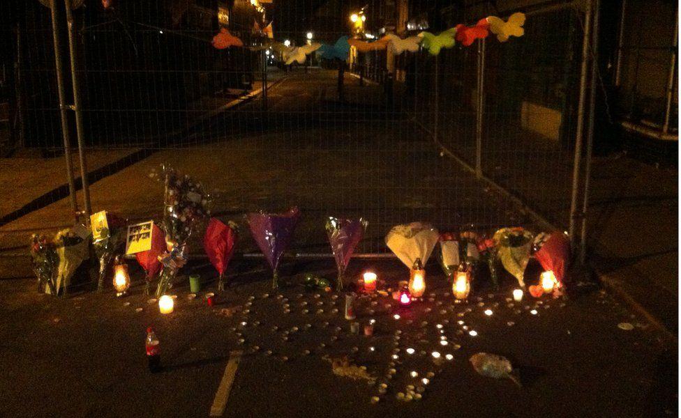 Tributes at scene of fatal crash