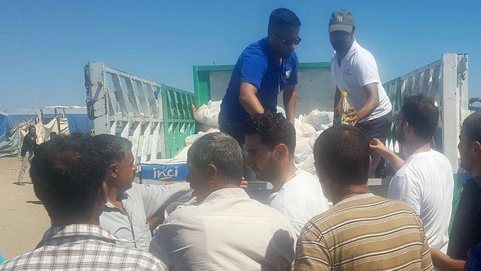 Distributing supplies