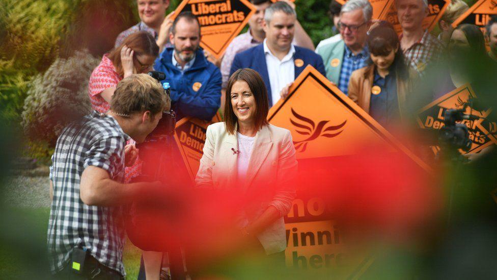 Welsh Liberal Democrat leader Jane Dodds after her victory