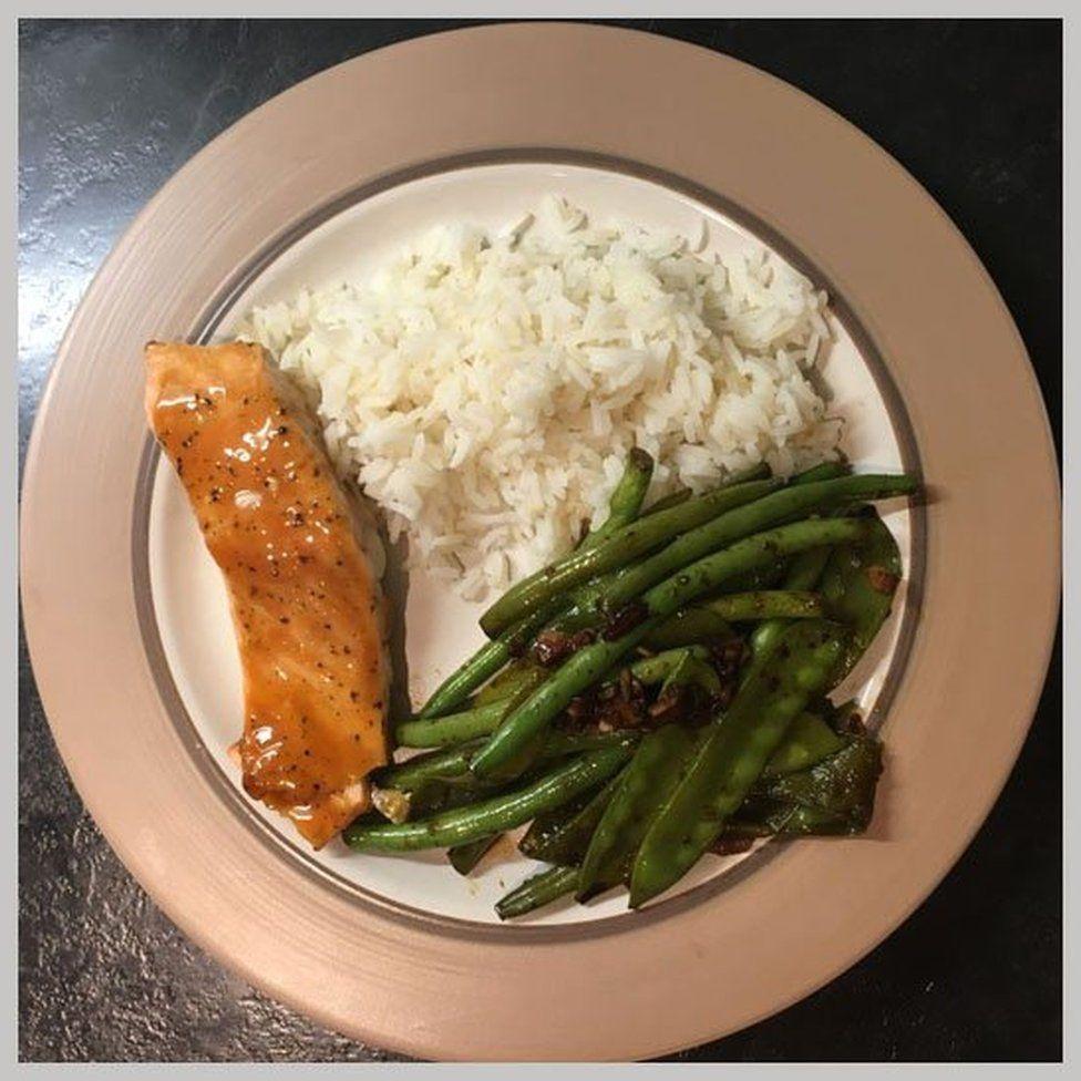 Angela's salmon dinner